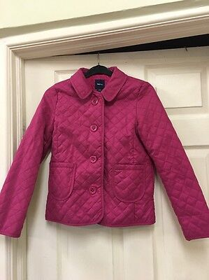 Gap Girls Fuchsia Pink Quilted Jacket, Size L, Age 12-13