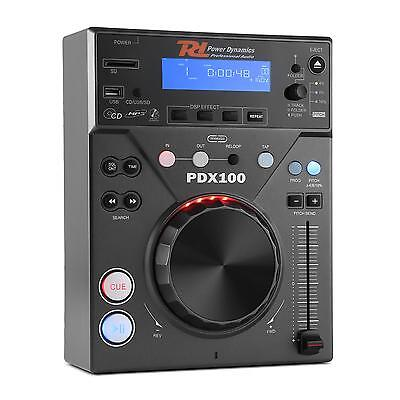 Power Dynamics Cdj Lettore Cd Dj Singolo Pro Usb Mp3 Festa Party Club Pitch Loop