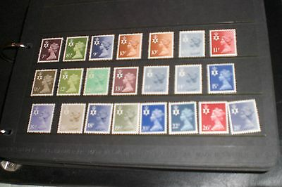 Northern Ireland Stamps-Early Definitives 22 Stamps Mint Unhinged
