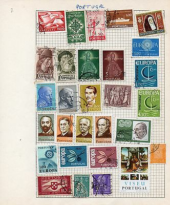 Sheet of used PORTUGAL stamps (4)