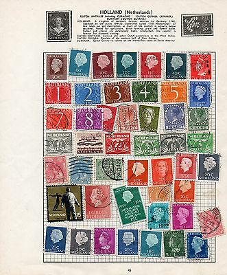 Sheet of used NETHERLANDS stamps (2)