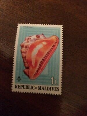 Stamp Maldives - Shell - Unfranked