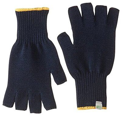 Minus33 Merino Wool Clothing Fingerless Glove Liner, Large, Navy