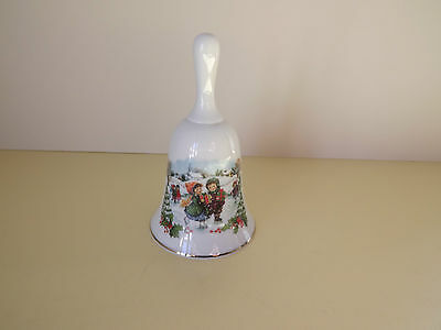 Porcelain Hand Bell with Children Skating