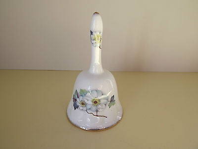 Royal Crown Staffordshire Fine Bone China Hand Bell with Flowers