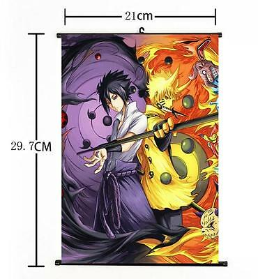 "Hot Japan Anime Uzumaki Sasuke Uchiha Poster Wall Scroll Home Decor 8""×12"""