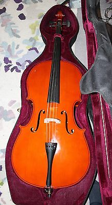 Gear4Music 4/4 Full Size Cello with Hard Case