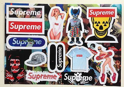 SUPREME Classic Box Logo and Rare X 13 Skateboard Stickers Laptop Phone Decal