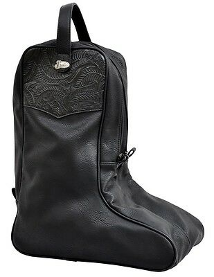 Justin Western Boot Bag Embossed Concho Overlay Zip Closure JBBB10
