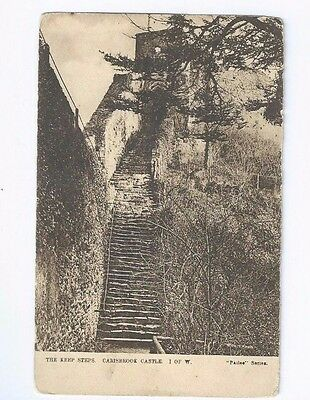 Postcard Carisbrook Casle The Keep Steps Philco WC series Isle of Wight IOW