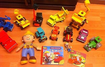 HUGE BOB THE BUILDER FIGURES AND 11 x VEHICLES BUNDLE TOYS BOOKS