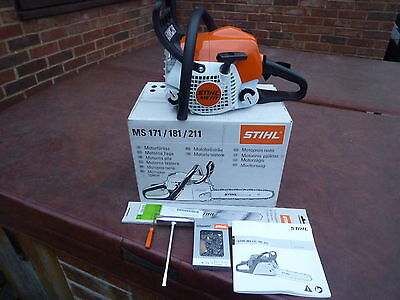 """stihl chainsaw ms171 brand new saw 14"""" bar  ideal home use price includes V A T"""