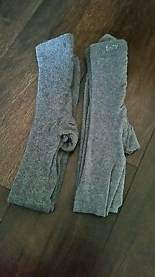 mothercare girls grey tights age 6-7