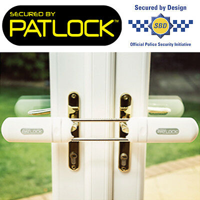 PATLOCK Patio/Conservatory/French Double Door Dead Lock Extra Security Device