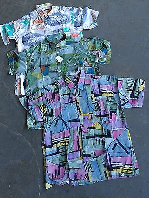 VINTAGE wholesale Crazy 80's patterned Fresh prince Shirts short sleeve x 200