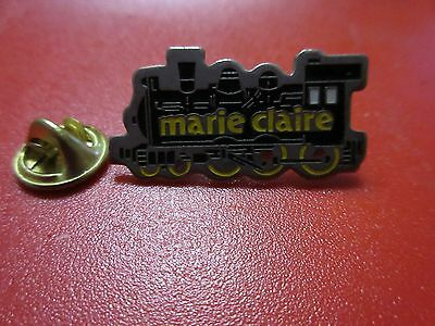 Marie Claire Pin Badge Train Enamel
