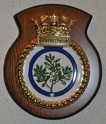 HMS Campbeltown wall shield plaque Royal Navy RN