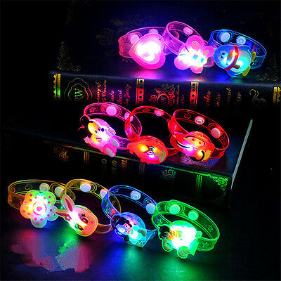 2Pcs Hot Adjustable Supplies Flash Light Led Wrist  Bracelet Kids Toy Gift
