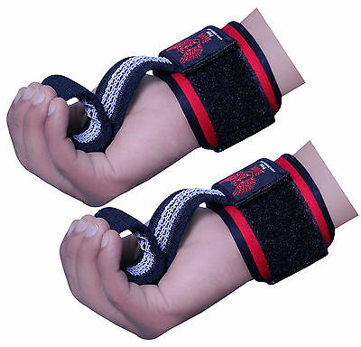 BOOM Prime Weight Lifting Gym Bar Straps Deadlift Wraps Hand Wrist Support