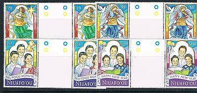 Niuafo'ou 1998 Christmas GUTTER PAIRS SG 281/4 MNH