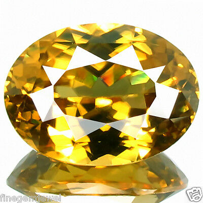 7.11ct FLAWLESS HUGE DAZZLING RARE EARTH MINED UNHEATED NATURAL YELLOW ZIRCON