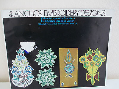 Vintage Anchor / Coats Iron On, Multi Print Embroidery Transfer Book 1969