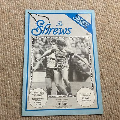 Shrewsbury Town v Hull City Littlewoods Cup 3rd round 1986 Football Programme