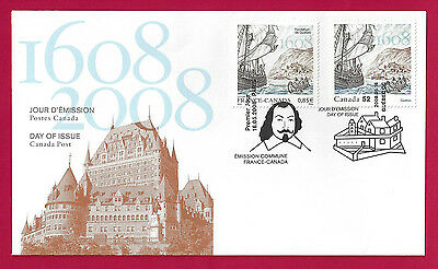 2008 Canada 52c OFDC # 2269i   JOINT ISSUE FRANCE & CANADA    New & Unaddressed