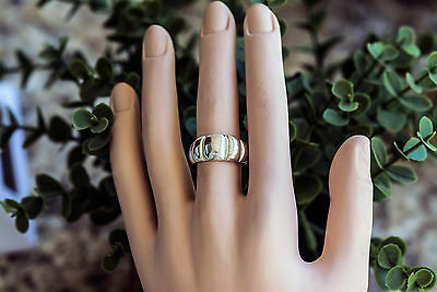 Sterling Silver Ring, Ethnic Mexican Ridged design, Woman jewelry size 7.5