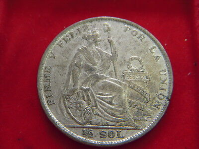 1926 Half Sol Coin From Peru  From My Collection C91