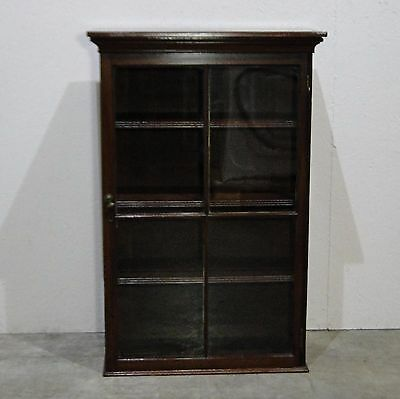 Antique Mahogany Closed Glass Front Bookcase/ Cabinet (0501s)