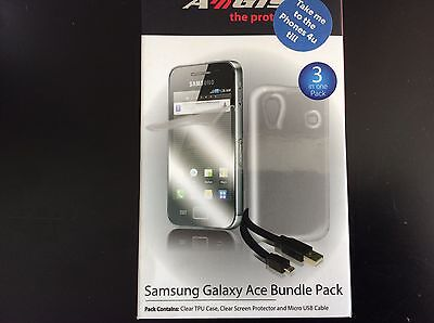Aegis Samsung Galaxy Ace 3 In 1 Bundle Pack - Case - Screen Protector -USB Cable