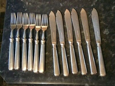 Art Deco 12 piece Mappin & Webb Silver Plated Top Quality  Cutlery Set