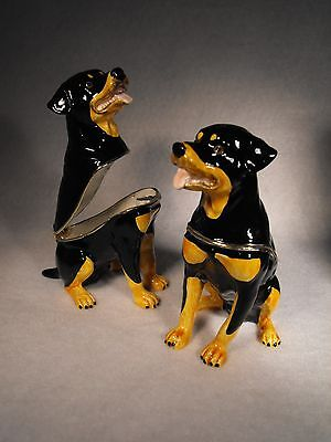 Rottweiler  Gift  Model  Ornament / Figure Figurine Secret Jewellery Ring Box