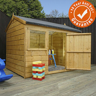 Childrens Wooden Playhouse 6 x 4 Petal - T&G, Safety Tested, Wendy House