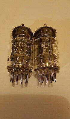 Philips ecc83 coppia nos pair matced pair code tested good made in holland