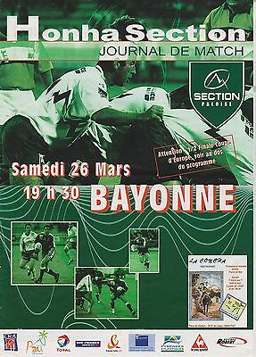 Collection Rugby Programme Section Paloise - Aviron Bayonnais 26/03/??