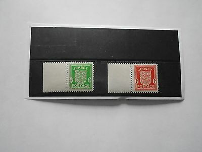 Jersey WWII 1941/2 Arms issue Excellent MNH marginal pair