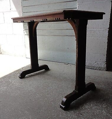 Fabulous Antique Gothic Solid Oak Side Hall Console Table Church Altar Table