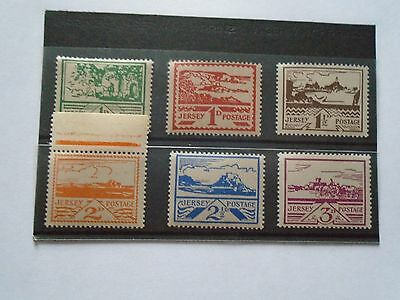 Jersey WWII superb MNH set of 1943/4 Pictorial (views) issue.