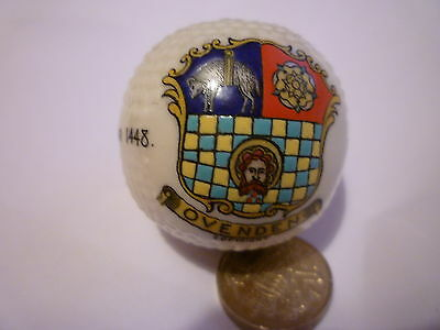 Swan China Model of a Golf Ball Crest of OVENDEN