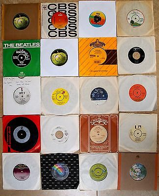 "ROCK 7"" SINGLE RECORD COLLECTION JOBLOT VINYL Pink Floyd Beatles Rolling Stones"