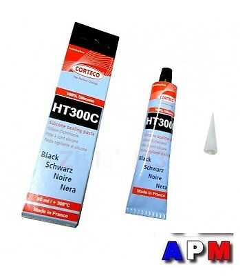 PATE A JOINT SILICONE NOIR HT300C CORTECO 80 ml (made in FRANCE)