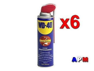 6 x 500 ML WD-40 Système  PRO   ( Double Positions)