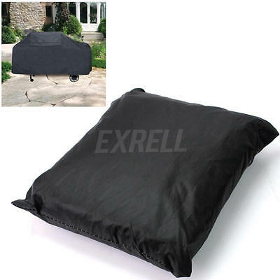 Black BBQ Grill Cover Waterproof Dust Leaf Barbecue Protection Outdoor Patio New