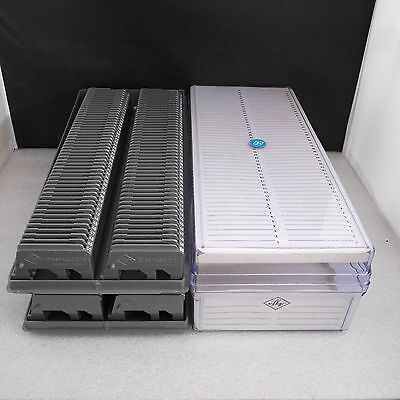 Agfa 50 Slide Tray Carrier Metal Pin Version 2x Boxes 4x trays 200 capacity