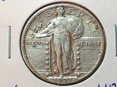 1923-S  AU  Standing Liberty Quarter  Nice Key Date Coin