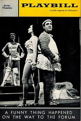 A Funny Thing Happened On The Way To The Forum Original Playbill