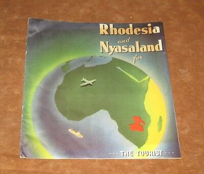 VINTAGE TOURIST BROCHURE - RHODESIA AND NYASALAND FOR THE TOURIST - c. 1950s