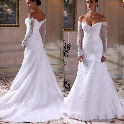 White Ivory Lace Wedding Dress Bridal Gown Custom Size or : 4 6 8 10 12 14 16+++